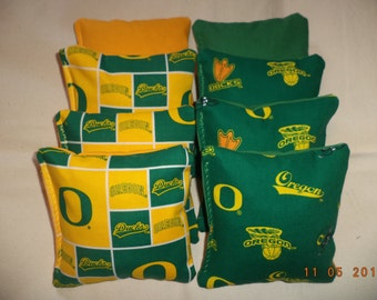 Cornhole bags Oregon Ducks Corn hole bean bags 8 ACA regulation baggo tailgate corn toss game