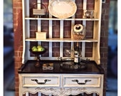 Hutch Hand Painted Country French Buffet & Hutch