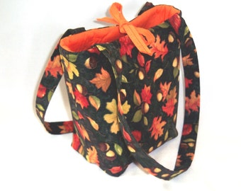 Purse, Thanksgiving, Fall Leaves Purse, Small Tote Bag, Autumn, Fabric Bag, Handmade Handbag, Fall Purse,  Shoulder Bag