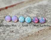 6mm OPAL EARRING ~ Opal STUD Earring ~ Dainty Opal Earring - Gemstone Earrings - pick your opal - choose your opal earring - stud earring