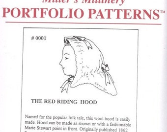 MM0001 - Miller's Millinery #0001, 1862 Red Riding Hood Sewing Pattern