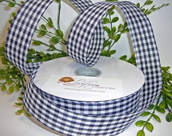 Gingham Ribbon, Checkered Ribbon, Wired Ribbon, 1.5 Inch Ribbon, Black/White Ribbon, 50 Yard Ribbon, Floral supply, Wreath Making