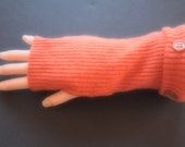 Fingerless Gloves Cashmere Orange