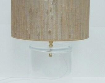 Grass Cloth Lamp Shade