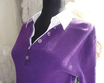 Vintage womens purple sweater