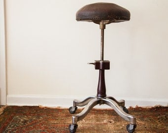 Amazing Rare 1920s Art Deco Medical Stool