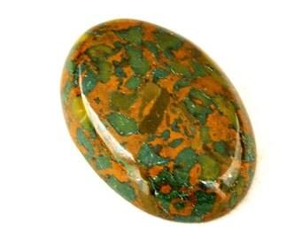 Conglomerate Jasper Cabochon Stone (30mm x 21mm x 7mm) - Oval Cabochon