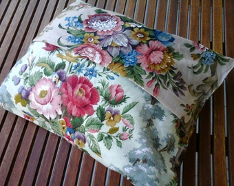 Vintage floral contrasts cushion cover chintzy English cottage look