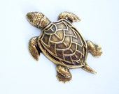 Turtle Ox  Brass Stamping Ornament  Art Deco Antiqued Silver Jewelry Findings.(2)
