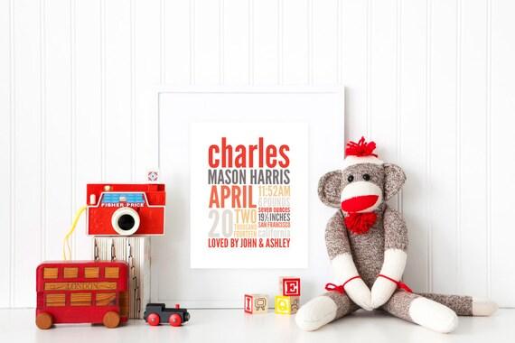 REMEMBER the day™ Fine Art Print - Custom Memory Announcement - Birth Story - Keepsake