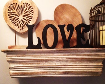 Set of 4 - Hand-painted Freestanding Letters, LOVE - Photo Props - 10cm