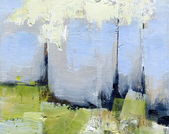 Spring Hill — Oil Painting, Landscape Oil Painting, Original Landscape Painting, Oil Painting, Abstract Painting, Fine Art, 5 x 7