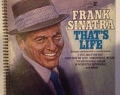 Frank Sinatra Recycled Record Album Cover Book