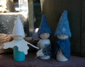 Winter peg doll set