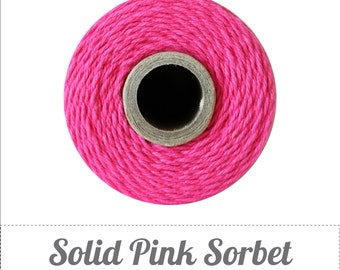 100% Cotton Twine Pink Sorbet Bakers Twine The Twinery 240 Yard Spool Solid Pink Sorbet Twine