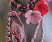 necklace,handmade,felt,felting,colie