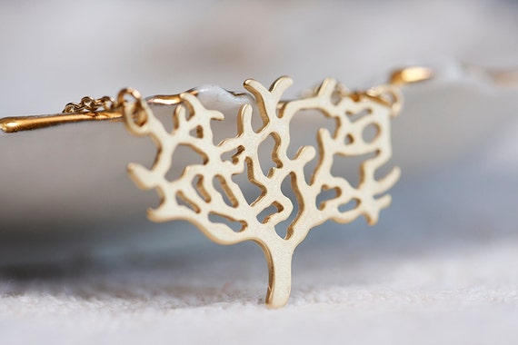 Patina Swallow Gold Tree Necklace Green Flying Bird Tree of Life Necklace - N145