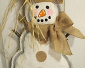 Items similar to ready to ship full body snowman burlap for Snowman made out of burlap