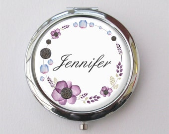 Compact Mirror, Purse Mirror, Personalized Bridesmaid Gifts