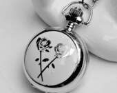 1pcs Rose Watch Charms Pendant with chain /pocket watch/Bridesmaid , Christmas gifts, friends, children's gifts