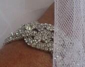 Bridal Bracelet, Wedding Bracelet, Crystal Wedding Bracelet,  Crystal Bridal Bracelet, Rhinestone Bracelet