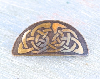 Celtic Brass Brooch