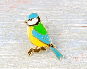 Colorful Little Bird Brooch - Wildlife Lapel Pin