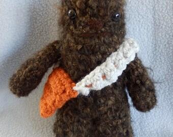 Made to order, Hand crocheted Star Wars Chewbacca Amigurumi Doll