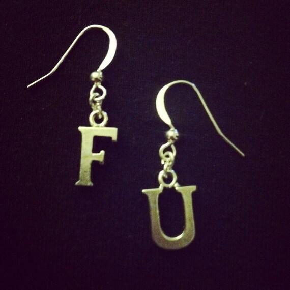 custom letter earrings With custom letter earrings