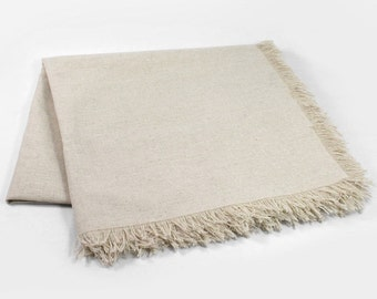 Natural European linen tablecloth made from pure flax linen