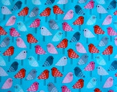 New Kokeshi Birds in Sweet by Suzy Ultman for Robert Kaufman Fabrics (1 yard) BUY MORE & SAVE