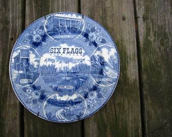 Six Flags Staffordshire Ware plate
