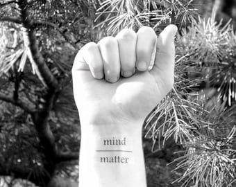 Mind Over Matter Temporary Tattoo