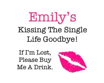 Bachelorette Party Tattoos - Kissing the Single Life Goodbye - Bachelorette Party Favor - Hens Bachelorette Party Favors