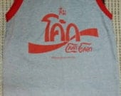 New arrived Coca cola Coke Thailand Tank Top Singlet Sleevele T-Shirts crop  for Punk Rock Vintage / Running Sport New arrived S/M/L/XL/2015