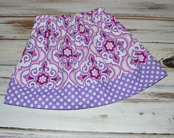 Purple Little Girl Skirt  Boutique Toddler Twirl Skirt Purple Skirt for Toddler
