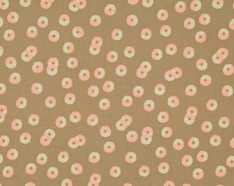 62508 -  Martha Negley Rose Garden PWMN071 - Whirl in natural color cotton fabric- 1 yard