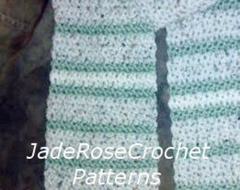 Crochet Scarf Pattern Unisex Easy Striped Free  PDF215