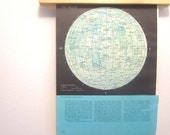 Moon, astronomy, moon map, moon image, vintage astronomy, vintage moon, outer space, childs room, vintage map, vintage decorating