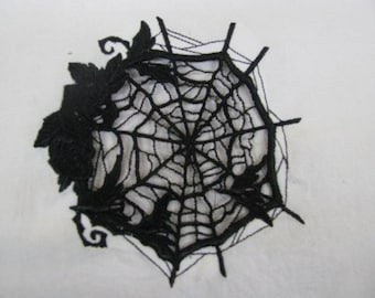 Lace Open Cutwork Spiderweb Embroidered Flour Sack Hand/Dish Towel