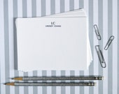 Customizable  Letterpress Notecards - Initials & Name - Set of 10