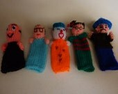 animal finger puppets set of 5