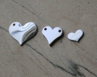 Pick A Size Sterling Silver Heart, 24g Sterling Silver, One or Two Holes, Sterling Heart Blank, Personalized Stamp Jewelry  Ask a Question