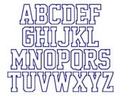 "SUPER JUMBO School Time APPLIQUE Font Set - Sizes 8"", 9"" & 10"""