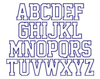 """SUPER JUMBO School Time APPLIQUE Font Set - Sizes 8"""", 9"""" & 10"""""""