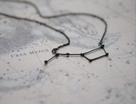 Necklace Ursa Major oxidized silver