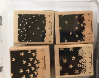 Stampin Up Gently Falling Stamp Set Used