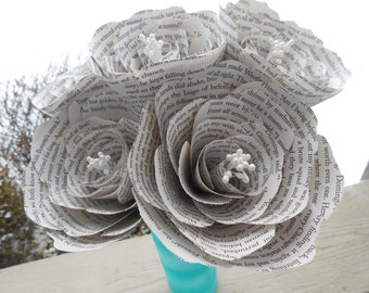 BOOK Peonies. Half Dozen. Perfect for First Anniversary, Weddings, Birthdays. Unique Gift. CUSTOM Orders Welcome