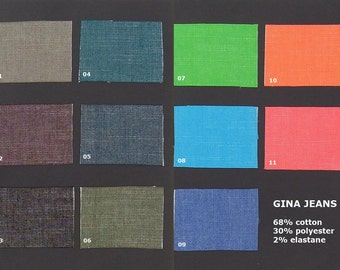 GINA JEANS stretch denim in various  colors, 1 meter