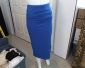 Brand New Without Tags Royal Blue Long Petite Pencil Skirt - Size Small - FREE SHIPPING